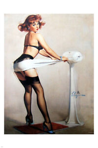 1962 VINTAGE pin-up poster 24X36 adorable funny SEXY LINGERIE fun-loving
