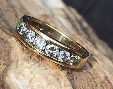Unisex 14k  Yellow Gold .60 Diamond Wedding Engagement  Band AVP $1400 #1512