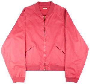 Kapital Nantucket Red Salmon Lightweight Cotton Full Zip Raglan Bomber 3/L Japan