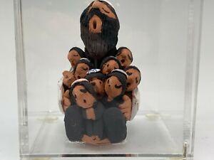 Juan Sandoval Southwestern Pottery Storyteller Sculpture Jewish Man & Children