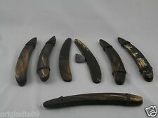 """3 pair,Sraight Razor Blank, Brown with streaks , with wedge,5 1/2""""(002)"""