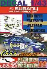DECAL 1/43 SUBARU IMPREZA 555 K.ERIKSSON R.SANREMO 1996 5th (01)