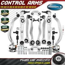 Track Control Arms + Stabiliser Links Kit Front Upper + Lower for Audi A4 B6 B7
