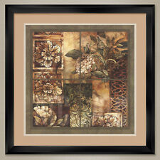 """35W""""x35H"""": DECORATIVE TEXTURES by LINDA THOMPSON - DOUBLE MATTE, GLASS and FRAME"""