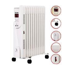 DMS® Ölradiator 2500W Öl Radiator Elektroheizung Heizer Heater 24h Timer WLAN