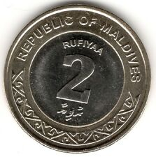 Maldives 2017 Coin UNC New Issue 2 Rufiyaa  New Bimetallic Circulating seashell