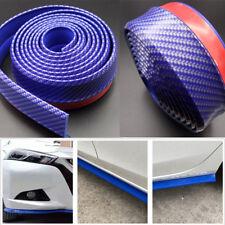 "2""x100"" Blue Universal Carbon Fiber Front Bumper Lip Splitter Spoiler Body Trim"