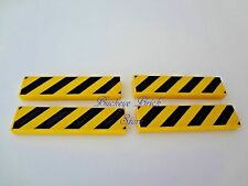 LEGO Tile 1 x 4 with Black and Yellow Danger Stripes,