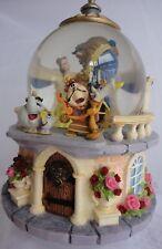 Disney Beauty and The Beast Musical Snowglobe - Retired 1991 Rose Garden Balcony
