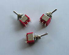 3pcs Guitar Toggle Switches DPDT 6 Pin ON-ON-ON Mini Switches Car/Boat Switch