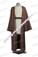 Standard Size Cosplay 7pcs Star Wars Obi-Wan Kenobi Jedi TUNIC Costume New Ver