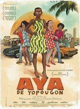 Affiche 40x60cm AYA DE YOPOUGON 2013 Aïssa Maïga, Tella Kpomahou, Ido NEUVE