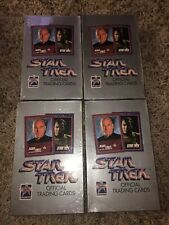 1991 Star Trek Official Trading Cards Box Set Lot Of 4 - Sealed  Free Shipping