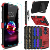 For LG K30/Xpression Plus/Premier Pro LTE Shockproof Stand Case Screen Protector