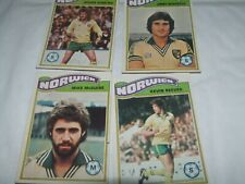 8 x NORWICH CITY    Topps Football Cards 1978 Orange Backs