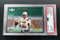2000 FLEER METAL TOM BRADY RC ROOKIE EMERALD PSA 8 VERY RARE! GOAT SSP