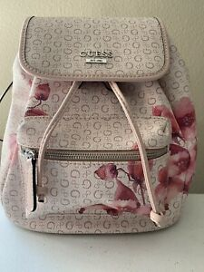GUESS Women's Signature Handbag Backpack Floral Pink