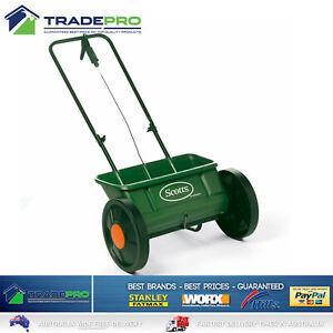 Scotts Large Fertilizer Spreader & Wheels Lawn Grass Seed Seeder Even Green Drop