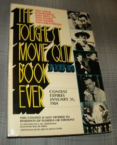 THE TOUGHEST MOVIE QUIZ BOOK EVER by JAY ROBERT NASH(1983 CONTEMPORARY BOOKS SC)
