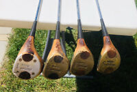 Macgregor Wood Golf Clubs Lot Of 4 Vintage 1 3 4 5 Free Shipping
