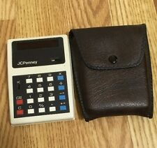 Vintage Jcpenney Mm3R Minuteman Electronic Calculator w/Case Made In England!