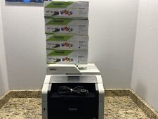 Brother MFC-9340CDW All-In-One Printer Wireless New Toners/Drums/PAGE COUNT 2377