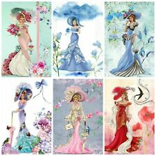PASTEL ELEGANT LADIES TOPPERS Card Making Toppers, Card Toppers (12)