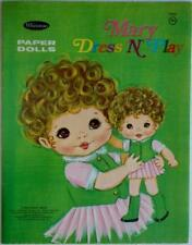 """New listing 1969 """"Mary Dress 'N Play"""" Paper Doll Book by Whitman 9.25 x 12 inch Lot 263"""