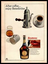"1965 Benedictine La Grande Liqueur Francaise ""After Coffee"" Vintage Print Ad"