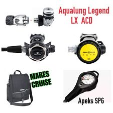 Aqualung legend LX ACD + CORE Octopus + upgraded APEKS SPG regulator Set