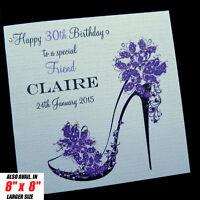 Personalised Handmade Birthday Card Mum Sister Daughter Friend Auntie Niece