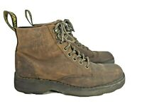 Doc Dr. Martens Size 8 Air Wair Zachary 6 Eye Brown Distressed Boots Mens