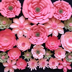 20/30cm Handmade Paper Flowers Backdrop Wedding Birthday Party Decor DIY  UK