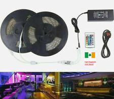 10M RGB 3528 LED Strip Light 600 Led 24Key Remote 12V DC Power With EU Plug