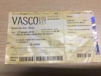 BIGLIETTO CONCERTO DI VASCO ROSSI LIVE KOM  2015 SAN SIRO MILANO 17-6-2015