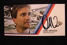 Card BMW Motorsport Team Schnitzer DTM 2013 #2 Dirk Werner (GER) Signed