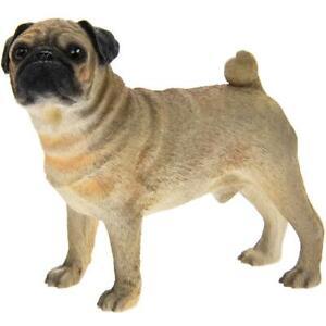 Black Standing Pug Dog Figurine Ornament