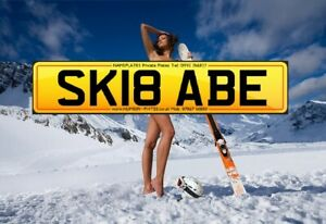 SKI, BABE, SK1 8ABE, Skiing, Snow, Verbier Private Plate, Cherished Number, Reg