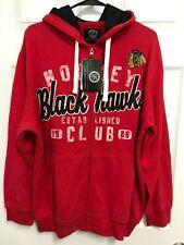 CHICAGO BLACKHAWKS Est. 1926 Men Red Full Zip Sweatshirt Hoodie M NHL NEW TAG