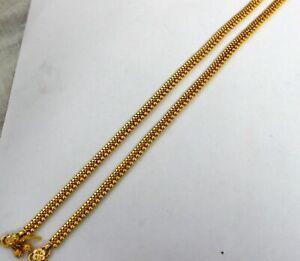 VINTAGE DESIGN GENUINE 22KT YELLOW GOLD ANKLET GORGEOUS ANTIQUE ANKLE BRACELET