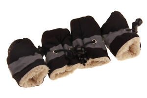 4Pcs Waterproof Pet Non-slip Shoes Winter Dog Cat Snow Boots Warm Puppy Booties