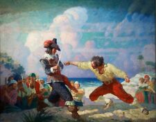Pirates Sword Fight : N.C. Wyeth : circa 1926 : Fine Art Print