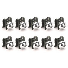 10Pcs Motorcycle M6 6mm Fairing Bolts Spire Speed Fastener Clip Screw Nut Sliver