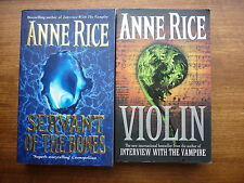 Anne Rice Servant of the bones / Violin 2 Horror paperback books