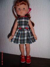 vetement robe ecossaise pour poupée Corolle les cheries