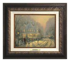 Thomas Kinkade - A Holiday Gathering –Canvas Classic (Aged Bronze Frame)