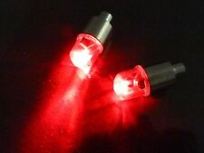 New 2pcs Red LED Tyre Tire Valve Caps Light Bike Car Valve caps led lights bulb