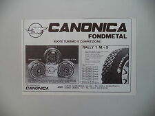 advertising Pubblicità 1981 RUOTE CANONICA FONDMETAL