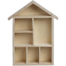 para hogar forma madera estantería Caja - Almacenamiento Casa - Decorar Regalo