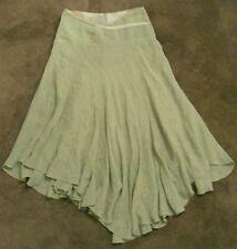 Linen Hand-wash Only Regular Size Asymmetrical Skirts for Women